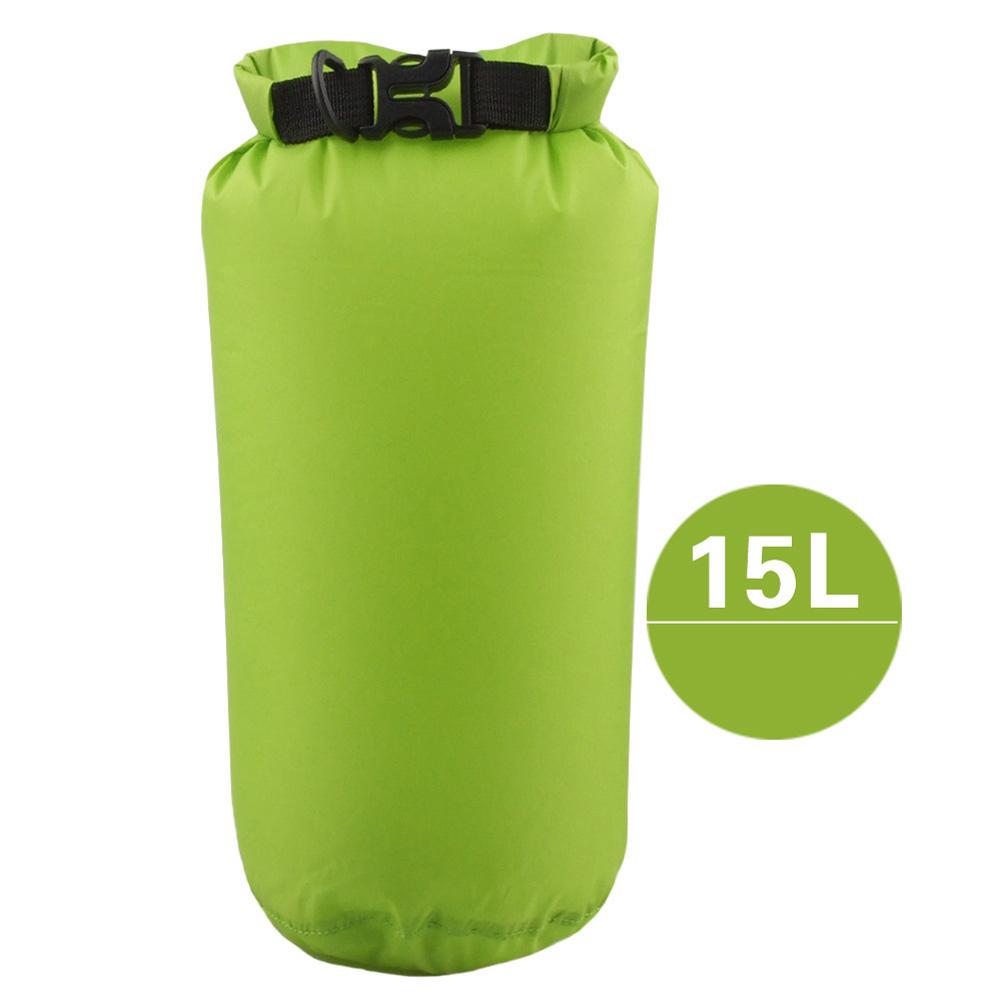 Outdoor Bag Camouflage Portable Rafting Diving Dry Bag Sack PVC Waterproof Folding Swimming Storage Bag for River Trekking Fruit green (15L)_15L