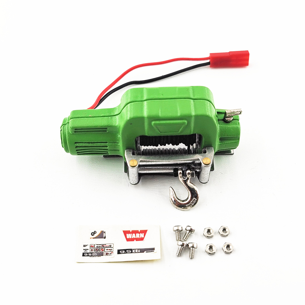 RC Car Metal Steel Wired Automatic Simulated Winch For 1/10 Rc Crawler Car Axial Scx10 90046 D90 Traxxas Trx4 winch