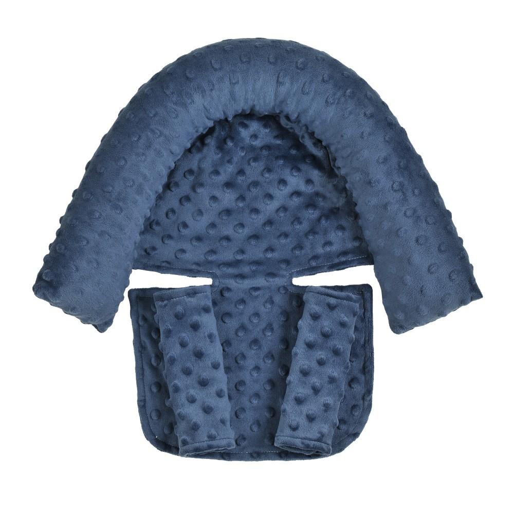 2Pcs/Set Baby Safety Seat Headrest + Safety Belt Cover Set for Infants Navy
