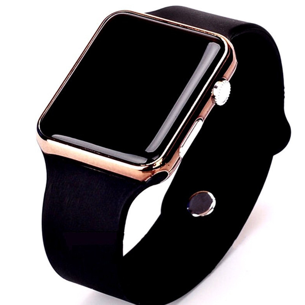 LED Square Casual Digital Watch with Rubber Band Sports Wrist Watches for Man Woman (colors optional) 5#