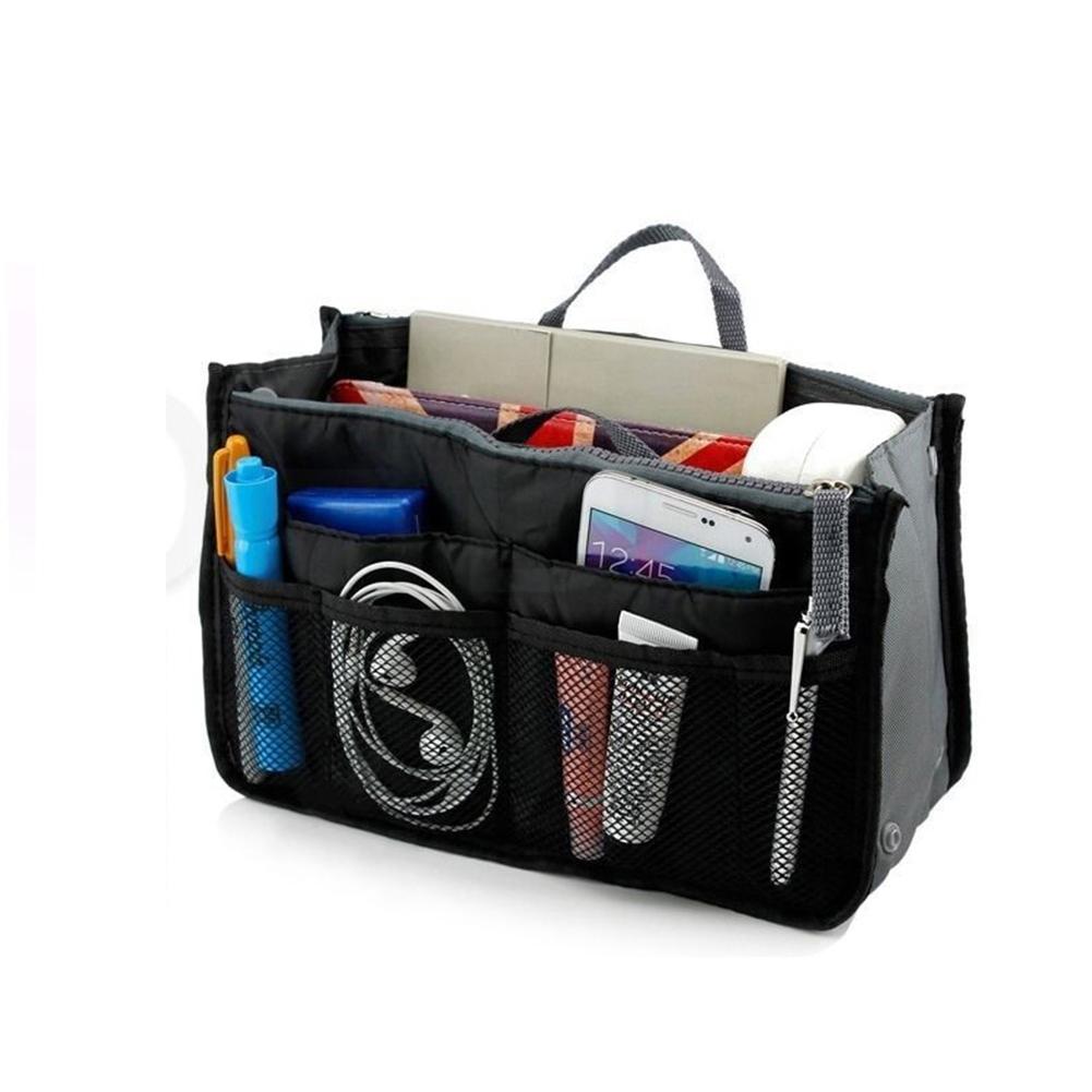 Multifunctional Small Handbag Travel Case Toiletry Bag Cosmetic Organizer Storage Bag Pouch Pocket black