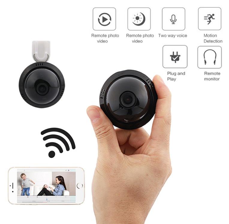 E09 HD Home Security MINI WIFI 1080P IP Camera Wireless Small CCTV Infrared Night Vision Motion Detection SD Card Slot Audio APP EU plug