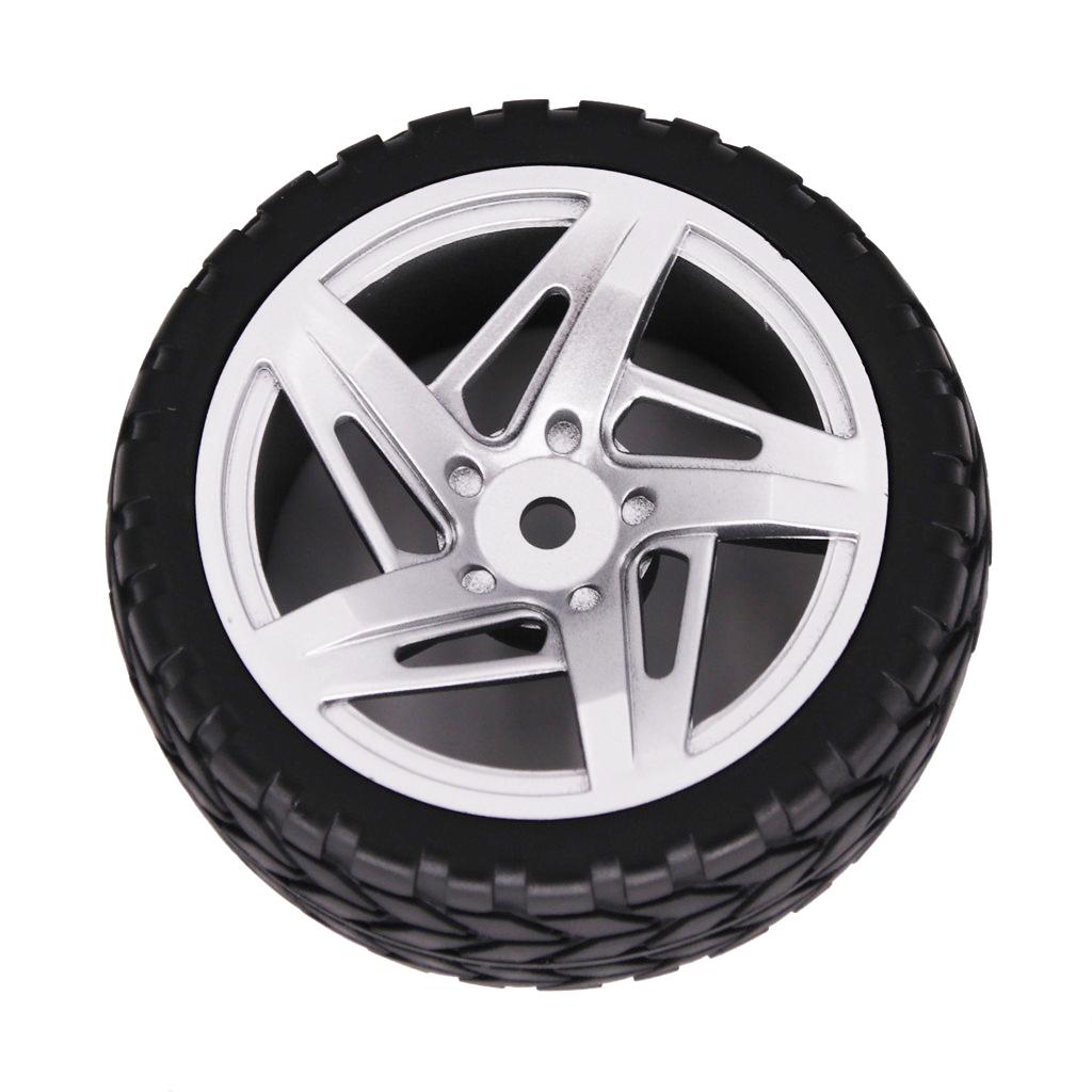 2PCS 1/10 Rubber Tire 62mm Wheel Rim Fit For HSP HPI 9068-6081 RC Car Part  Five-star wheel_2PCS