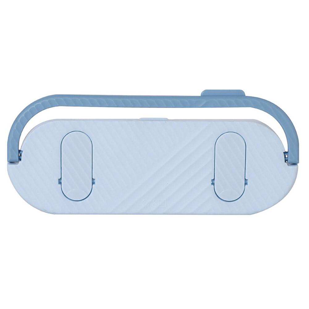 Multifunctional Bathroom Slippers Rack Free Punching Wall Drain Rack for Bathroom Kitchen Towel Hanging blue