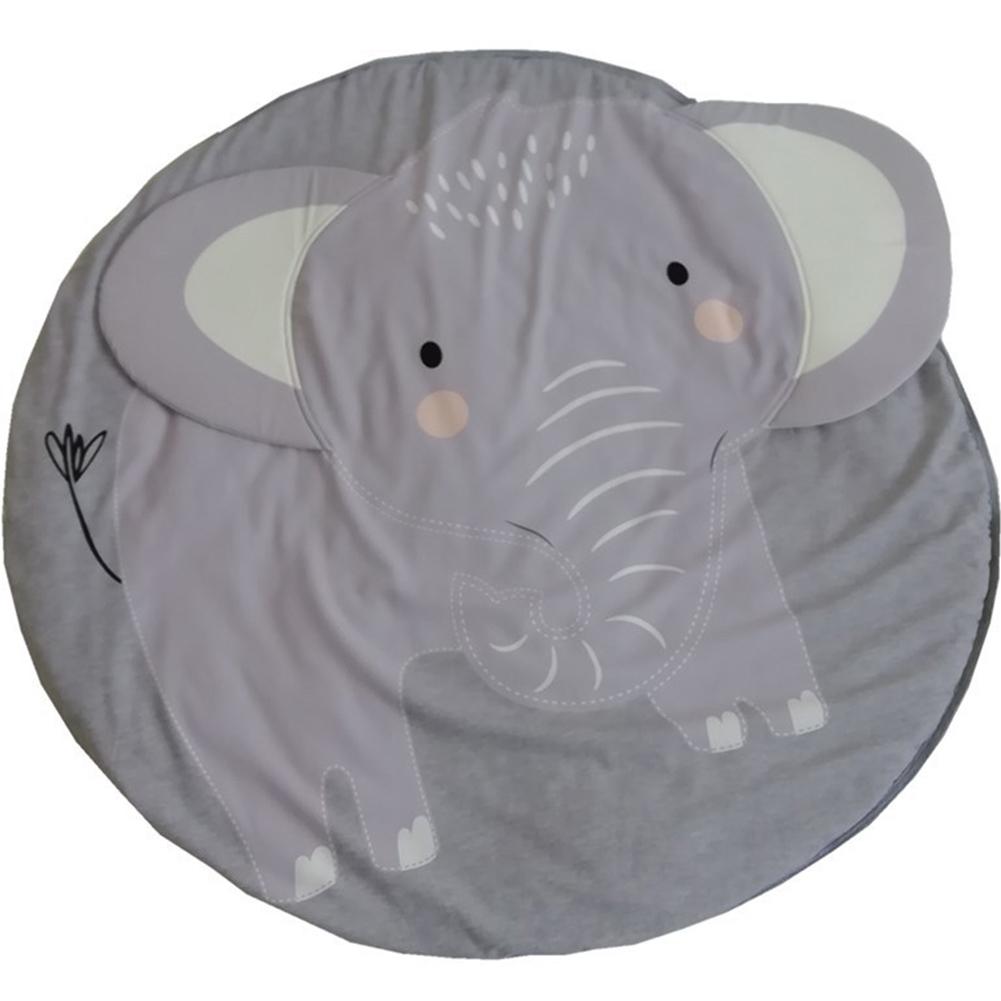 Cartoon Elephant Printing Baby Mat Round Carpet Cotton Newborn Infant Crawling Blanket Kids Room Decor Elephant