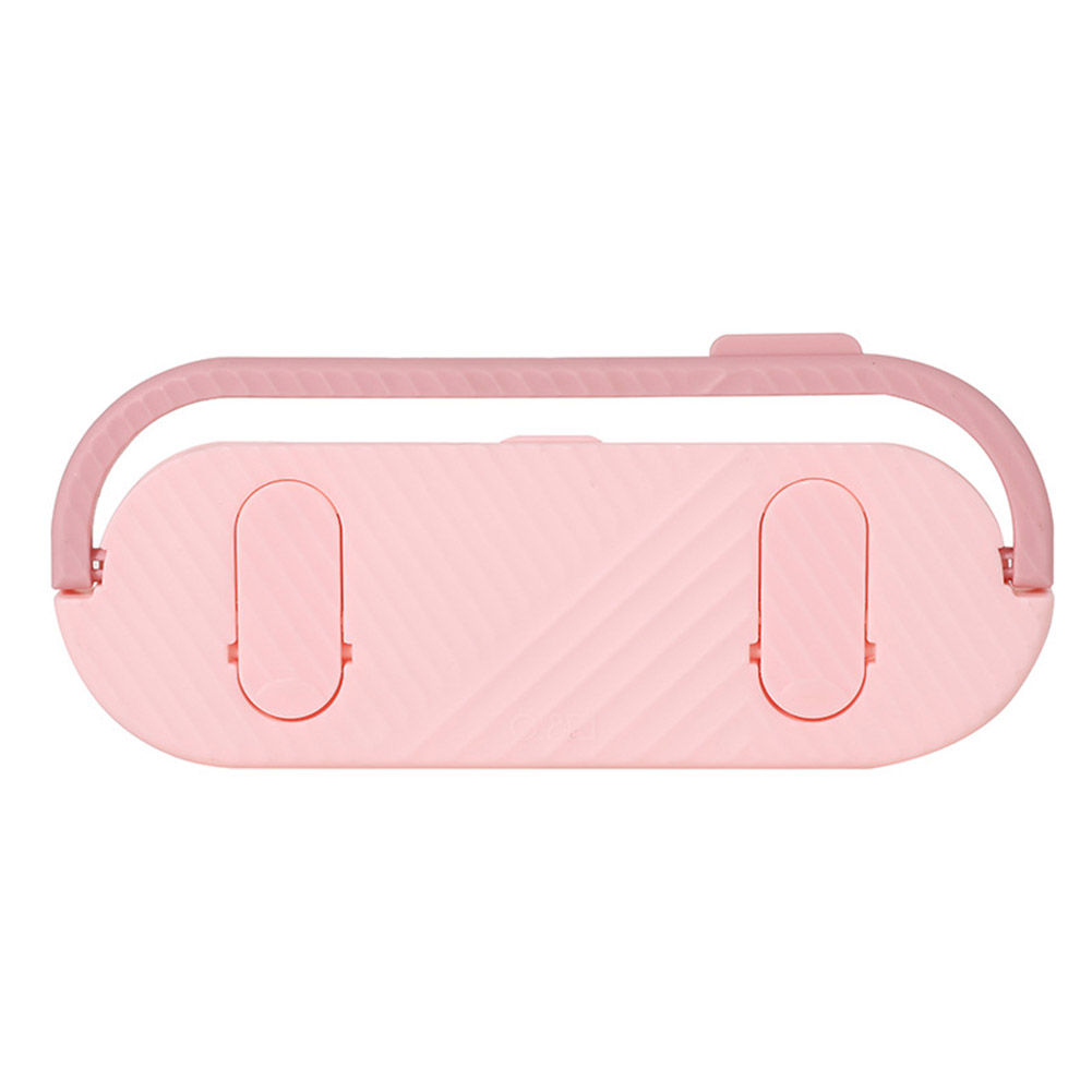 Multifunctional Bathroom Slippers Rack Free Punching Wall Drain Rack for Bathroom Kitchen Towel Hanging Pink