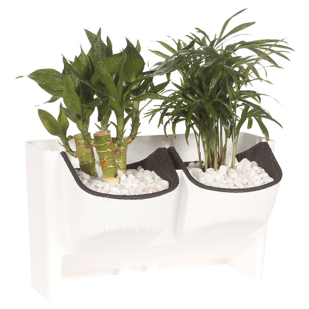 Novelty 2-Pocket Stackable Vertical Garden Wall Hanging Planter Flower Pot