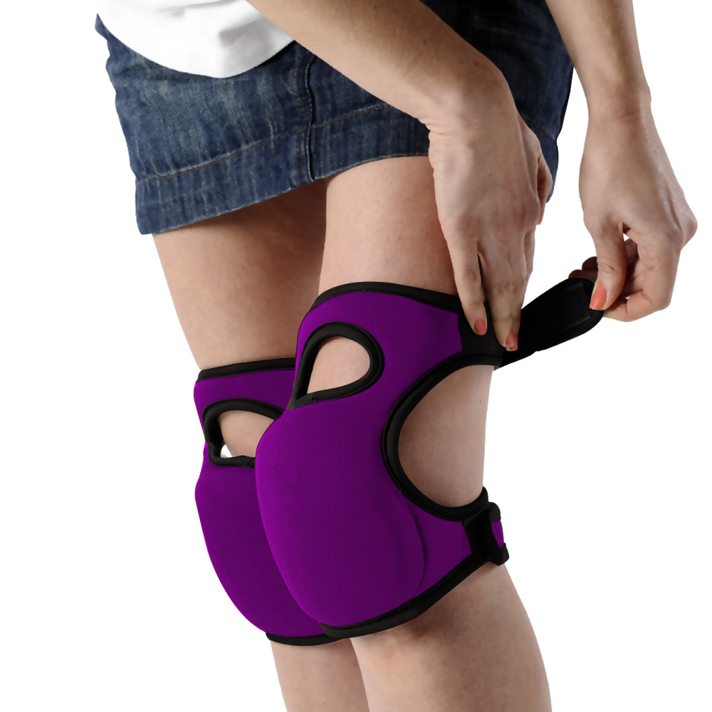 Knee Pads Home Knee Pads for Gardening Cleaning, Adjustable Straps Knee Pads purple