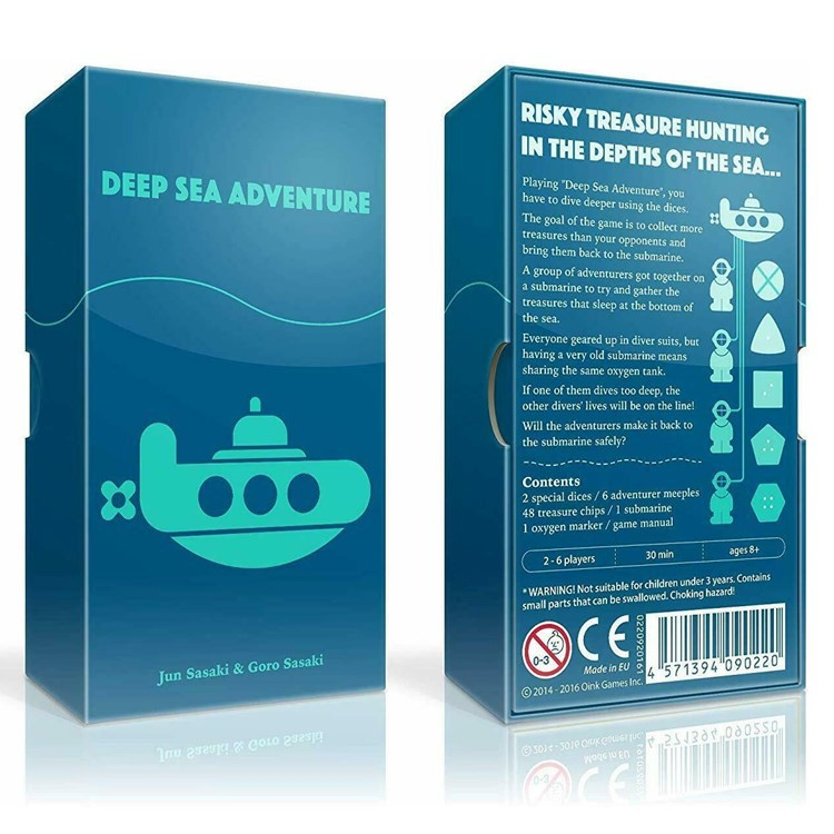 2-6 Players Deep Sea Adventure Board Game Children Funny English Game for Family Party Entertainment Gift as shown