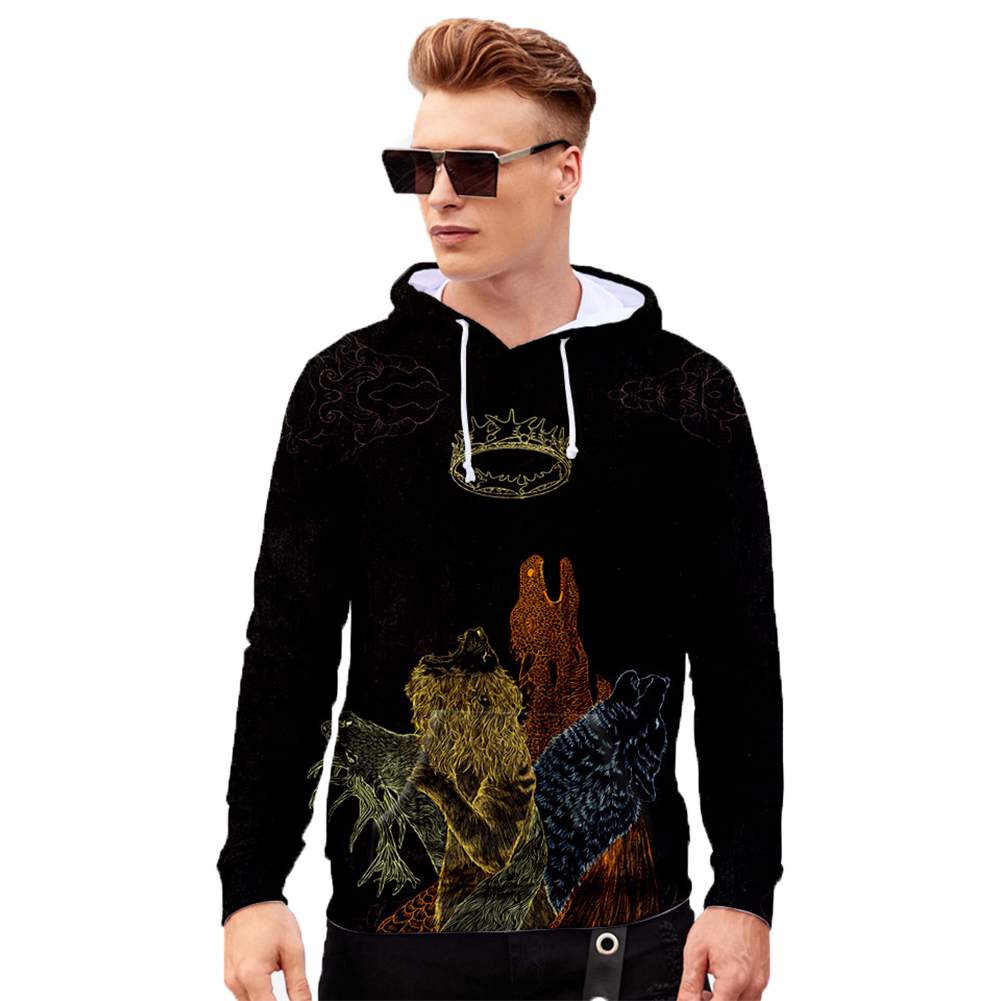 Men Women Stylish Cool Loose Game of Thrones 3D Printing Sweatshirt Hoodies Style I_S