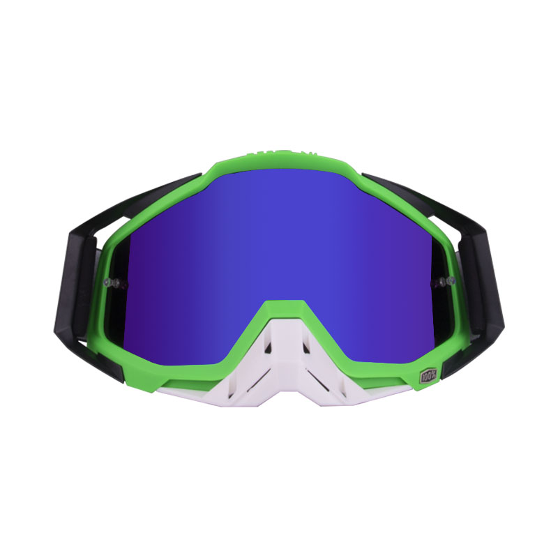 Motorcycle  Goggles Outdoor Off-road Goggles Riding Glasses Windproof Dustproof riding glasses Black green + white