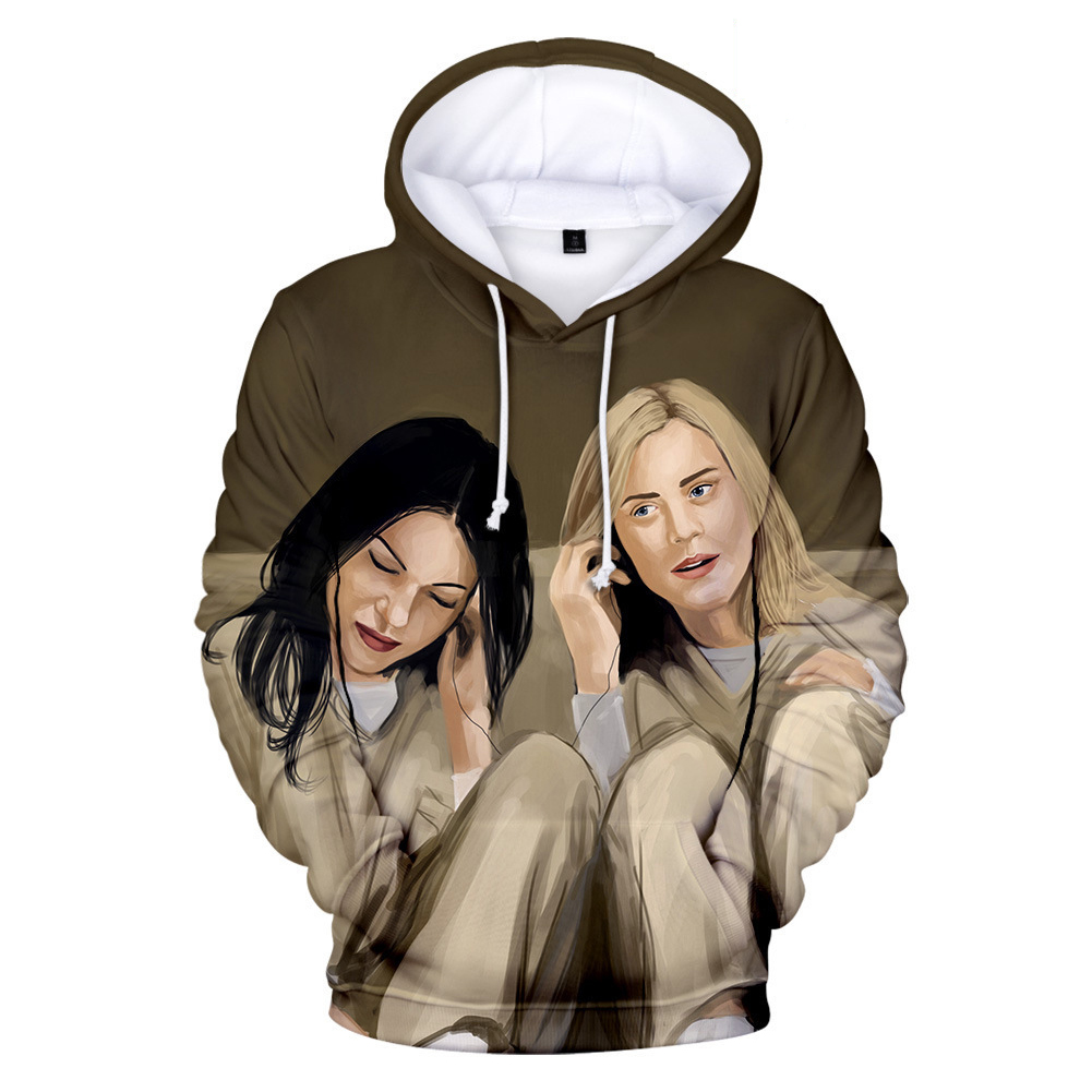 Couple Women Men American Drama Orange Is the New Black 3D Printing Hoodie Tops 3#_XL