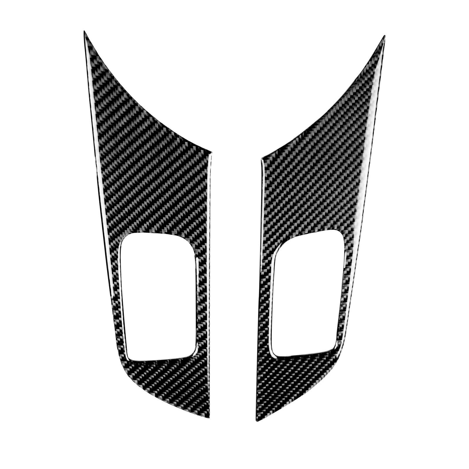 2pcs/pair Carbon Fiber Window Lift Switch Panel Cover For Mitsubishi Lancer EVO X 2008-2014 Carbon black