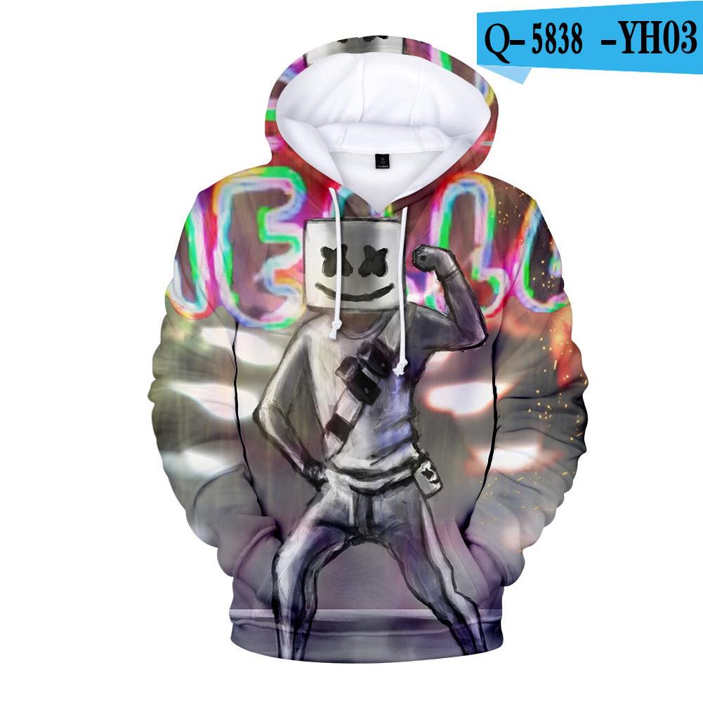 Men Women DJ Marshmello Fans 3D Print Small Logo Long Sleeve Sport Hoodies Sweatshirt I style_XL
