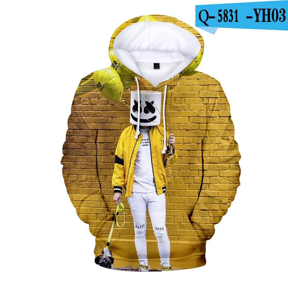 Men Women DJ Marshmello 3D Print Small Happy Face Balloon Long Sleeve Sport Hoodies Sweatshirt A style_M