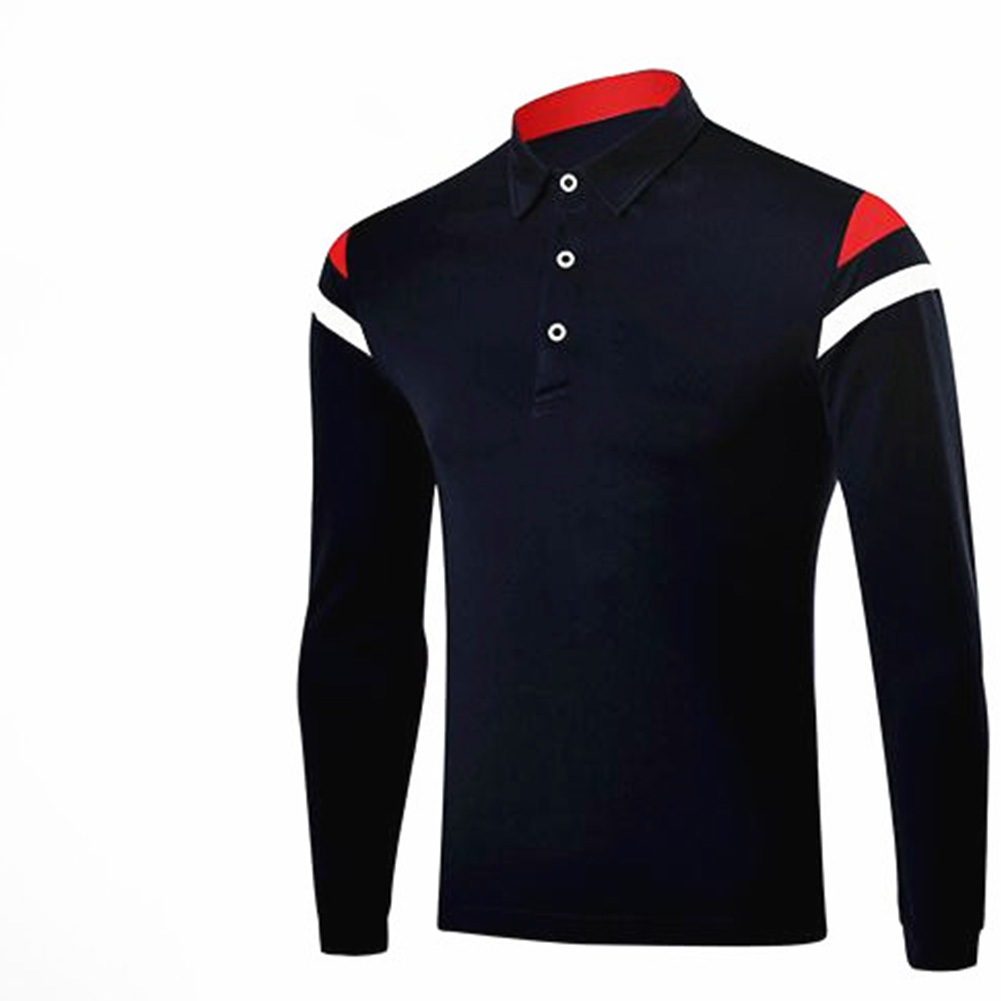 Golf Clothes Male Simier Ball Uniform Autumn Winter Male Long Sleeve T-shirt  Navy_L
