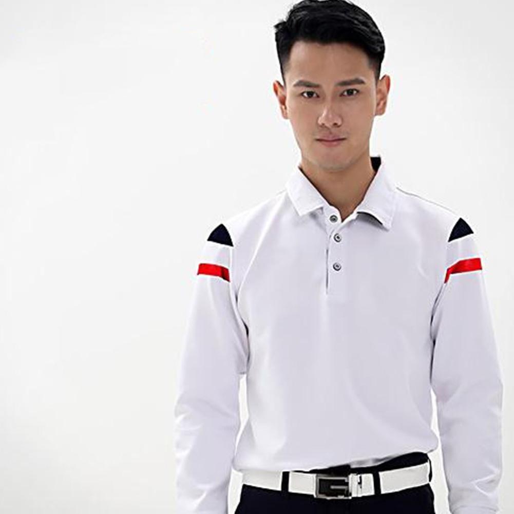 Golf Clothes Male Simier Ball Uniform Autumn Winter Male Long Sleeve T-shirt  white_L