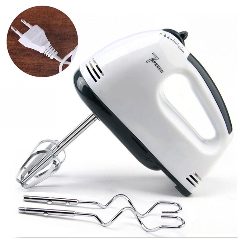 Electric Blender Handheld Cream Mixer 7 speeds Egg Beaters Cake Baking Kitchen Gadget EU Plug EU plug-handheld