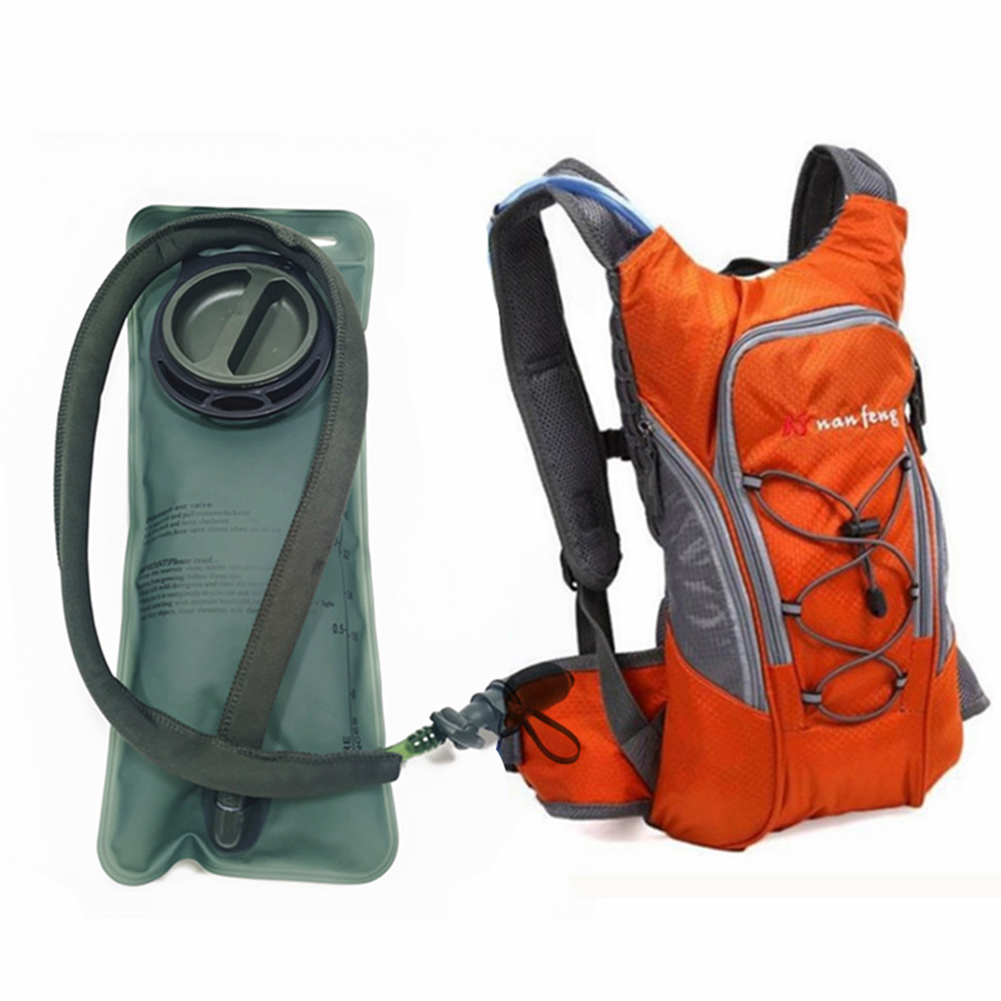 Riding Water Bag Backpack Bicycle 5L Sports Outdoor Riding Bag Cilmbing Travel Shoulders Bag 2.5L water bag + backpack orange
