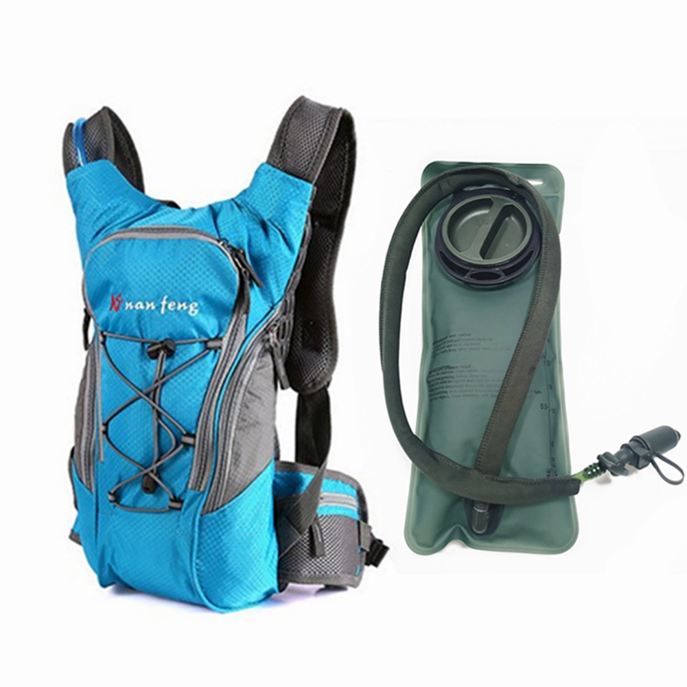 Riding Water Bag Backpack Bicycle 5L Sports Outdoor Riding Bag Cilmbing Travel Shoulders Bag 2.5L water bag + backpack blue