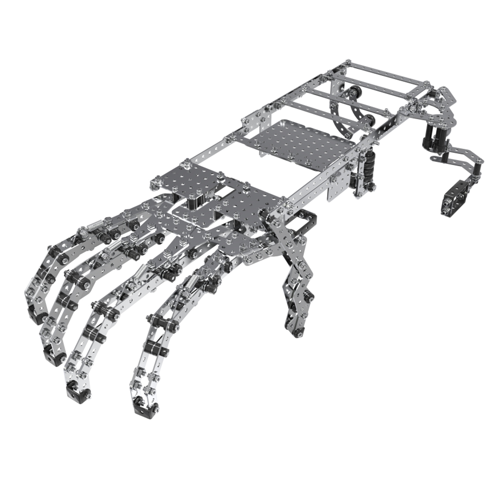 Boy Building Blocks Stainless Steel Metal Assembly 3d Puzzle Model Building Kits Manipulator