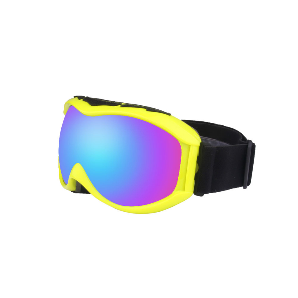 Autumn Winter Ski Goggles Double Layers Antifog Outdoor Snowboard Goggles Can Install Myopic Lens  yellow