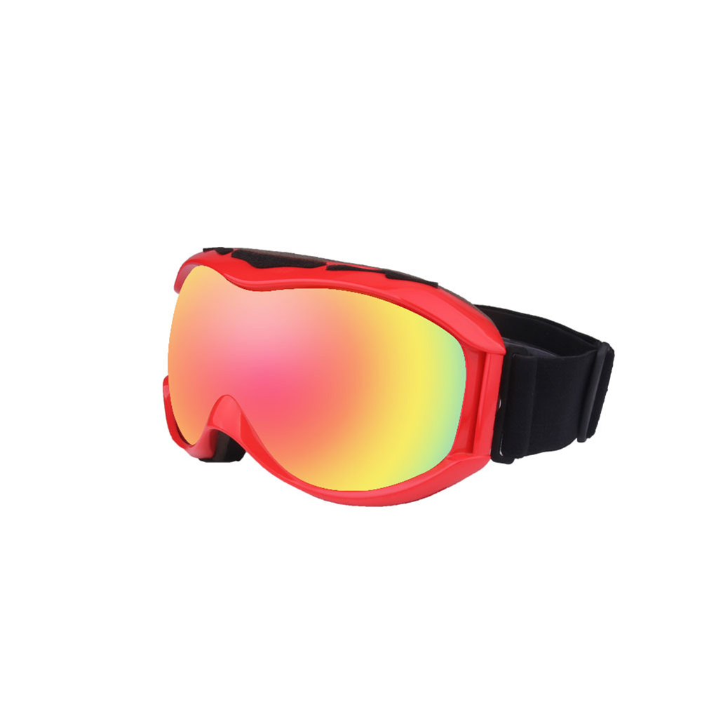 Autumn Winter Ski Goggles Double Layers Antifog Outdoor Snowboard Goggles Can Install Myopic Lens  red