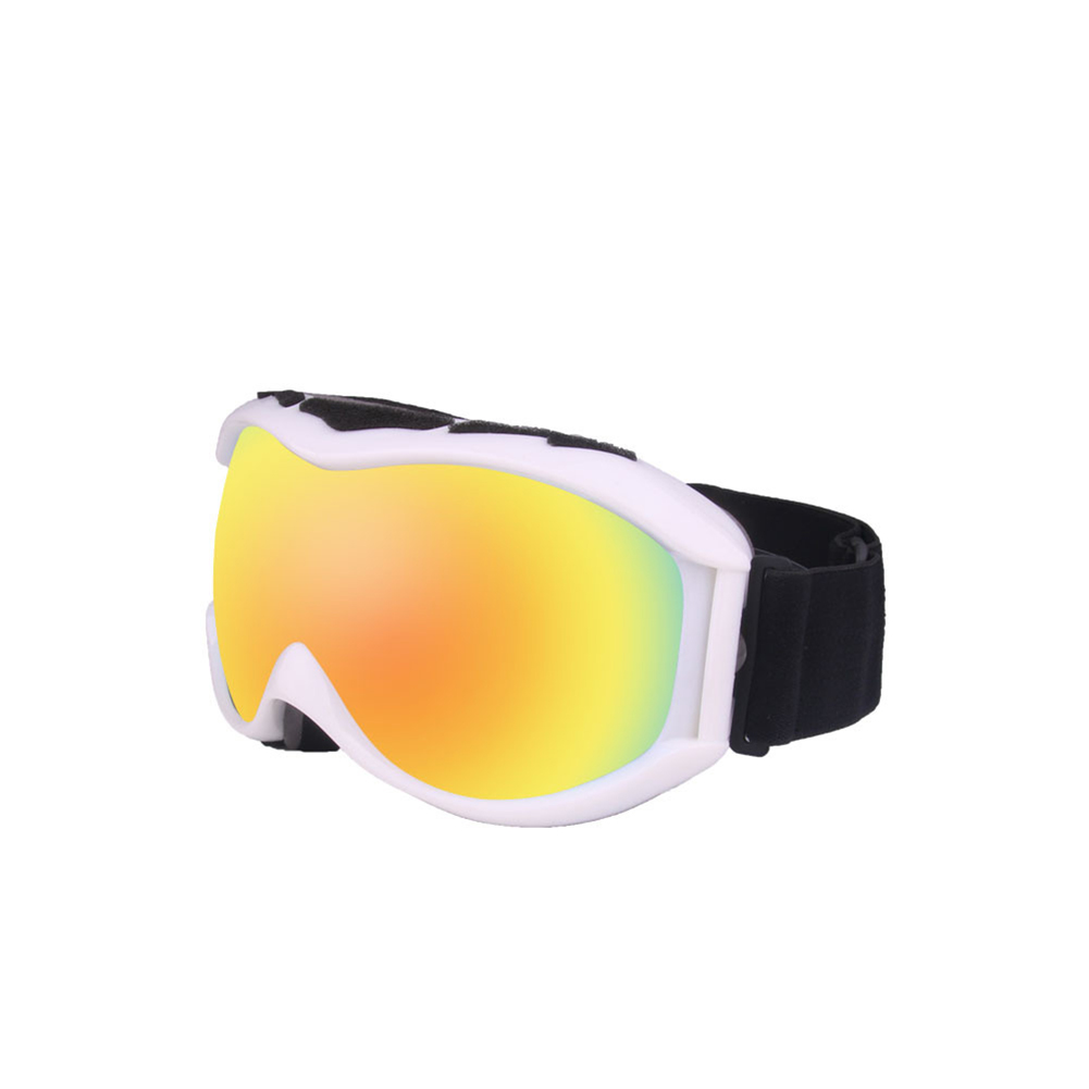 Autumn Winter Ski Goggles Double Layers Antifog Outdoor Snowboard Goggles Can Install Myopic Lens  white