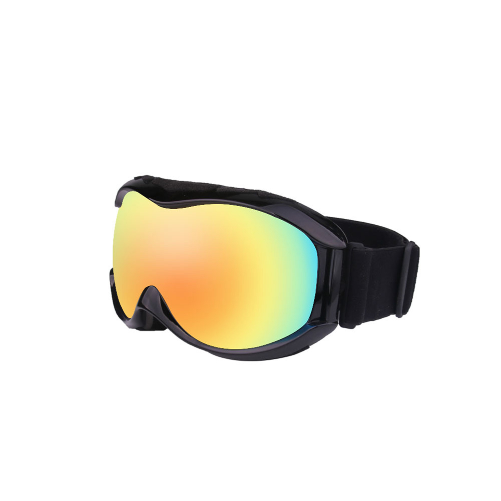 Autumn Winter Ski Goggles Double Layers Antifog Outdoor Snowboard Goggles Can Install Myopic Lens  black