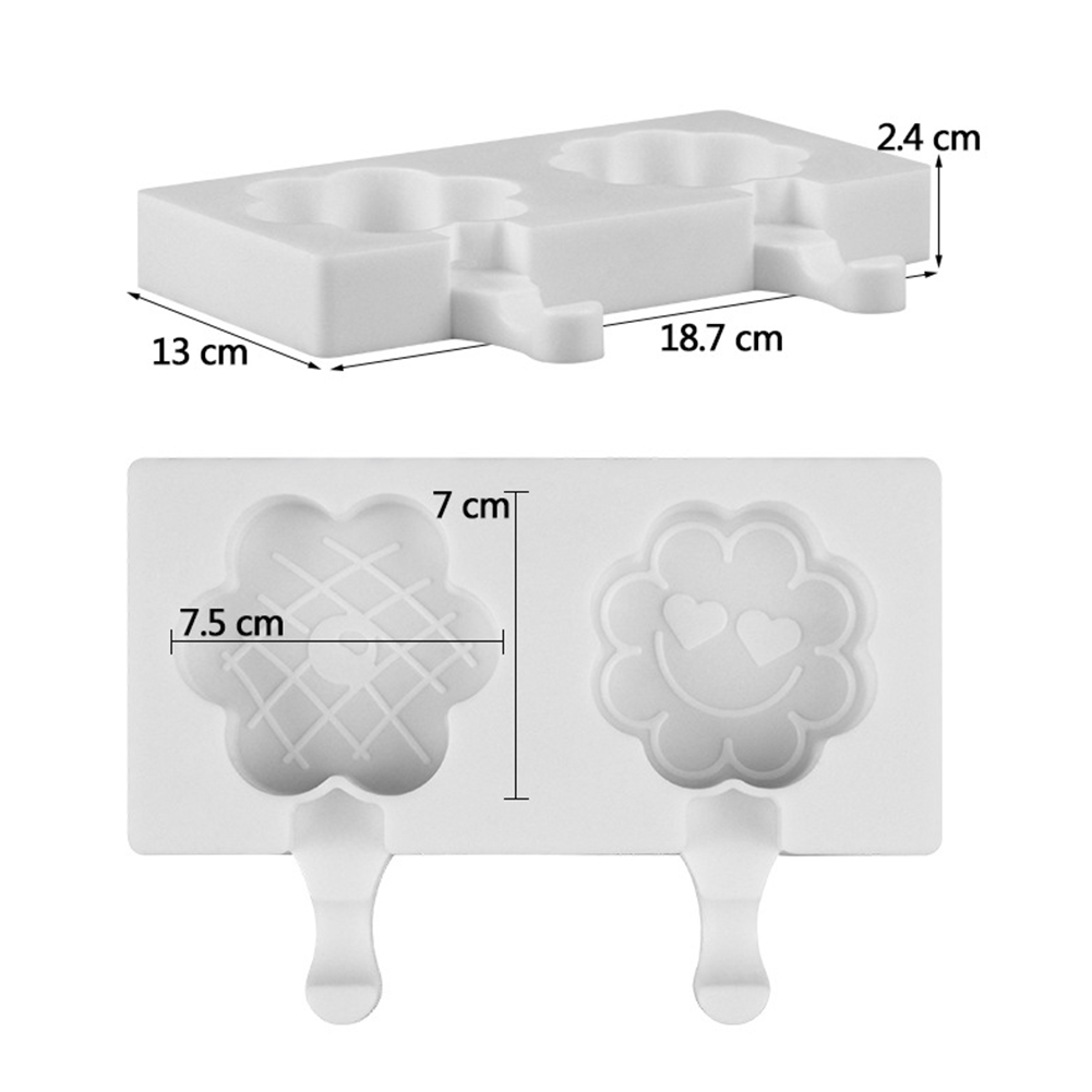White Silicone Mold for Ice Cream Mousse Lollipop Making
