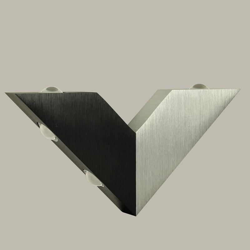 [US Direct] 6W 6 LED Modern Triangle Simple V Shape Aluminum Wall Light for Home Lighting Decoration Warm white light