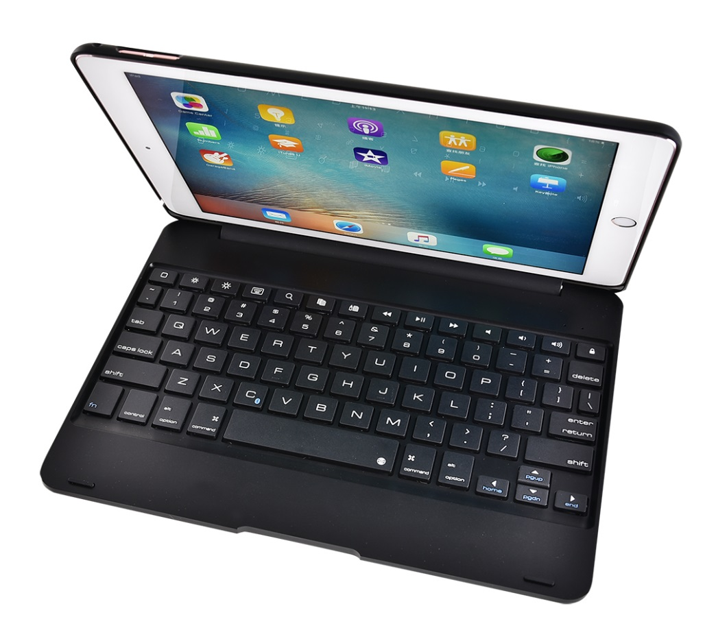 For ipad/ air1/2 pro 9.7 Tablet PC Slim Wireless Bluetooth Keyboard black