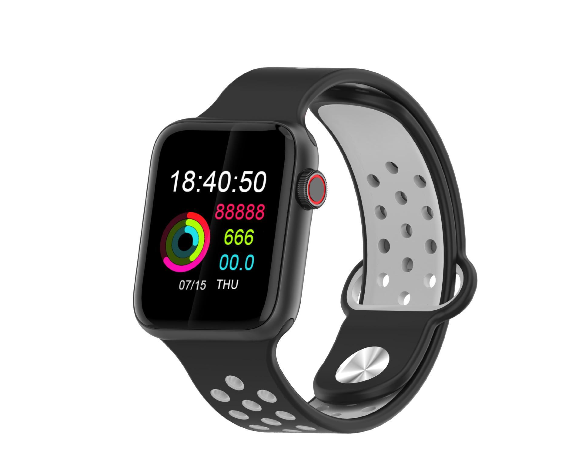 M33 Full Touch Smart Bracelet Health Monitoring Fitness Tracker Waterproof Smartwatch Sport Smart Watch Black gray