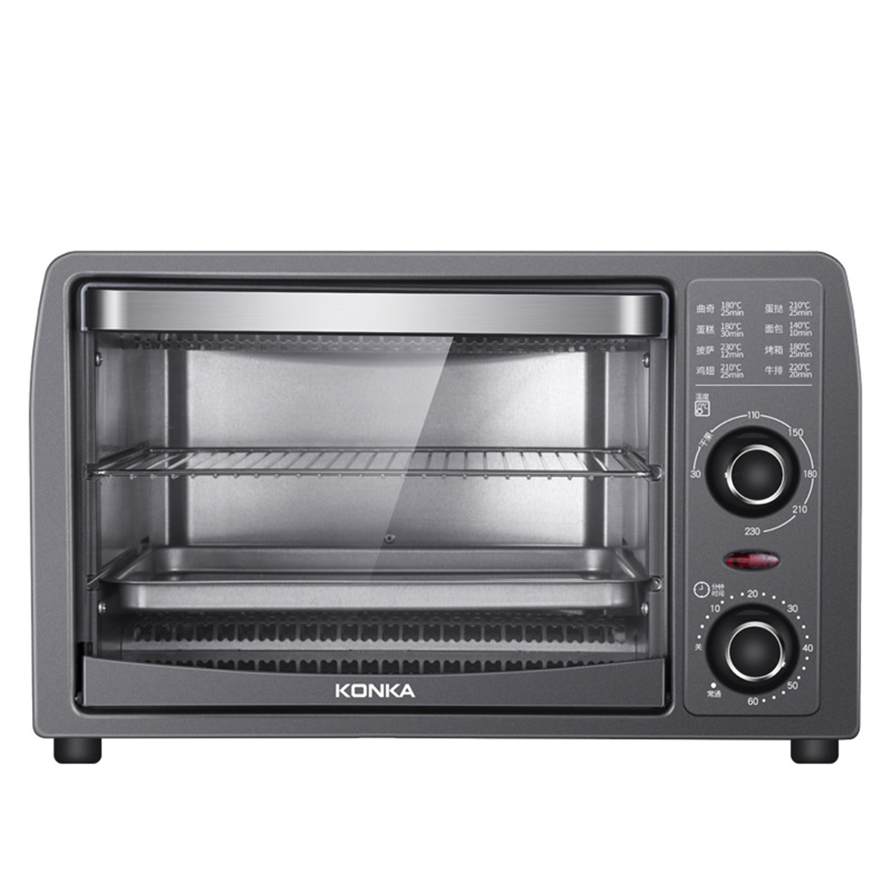 13l Electric  Oven Multi-function Baking Pan Rack With Timer Oven For Home Kitchen black_U.S. plug