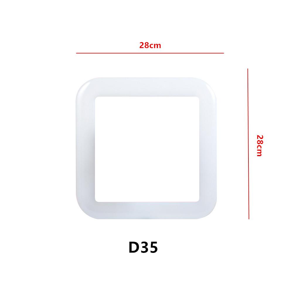 Portable LED Field Fill Light Adjustable Mobile Phone Soft Light Selfie Timer Bright Square Ring Lamp 28cm