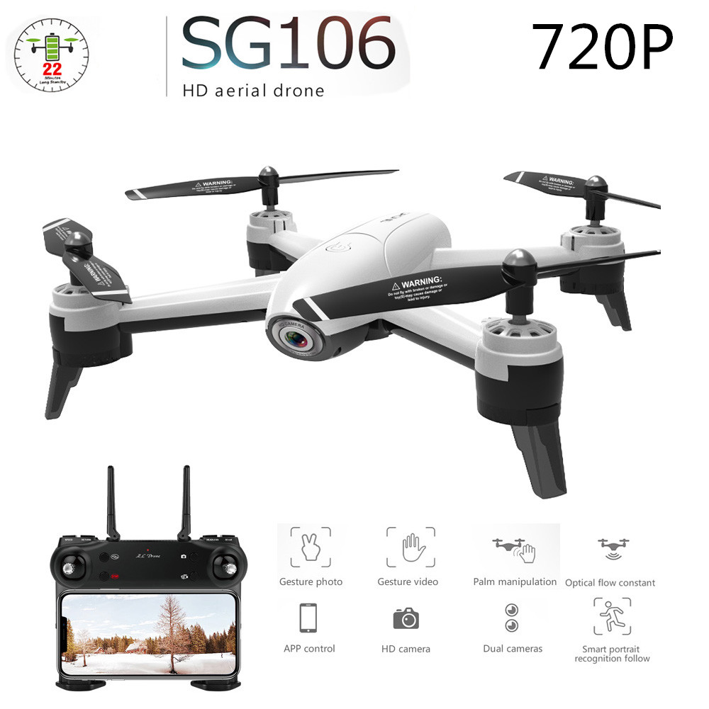 SG106 RC Drone Optical Flow 1080P 4K HD Dual Camera Real Time Aerial Video RC Quadcopter Aircraft Positioning RTF Toys Kids 720P single camera