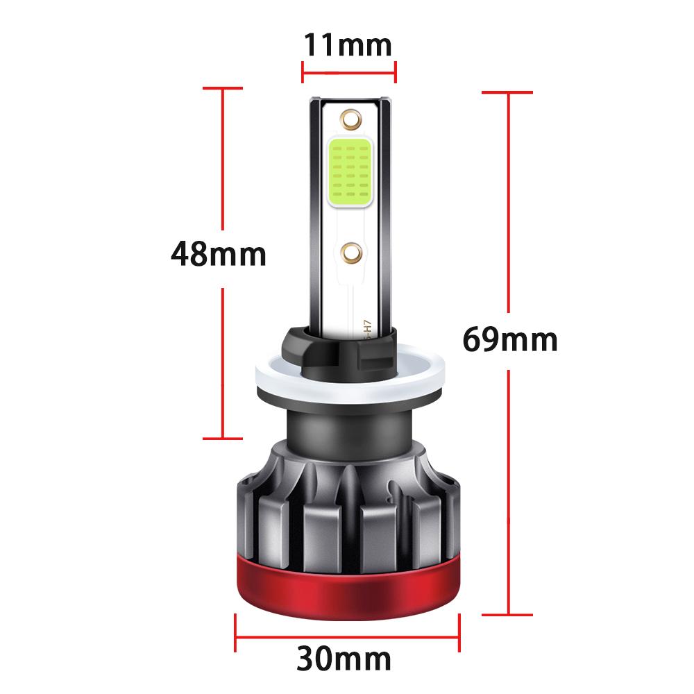 LED headlight front fog lamp 9-30 V 3000LM car modified green lime light bulb  880/881