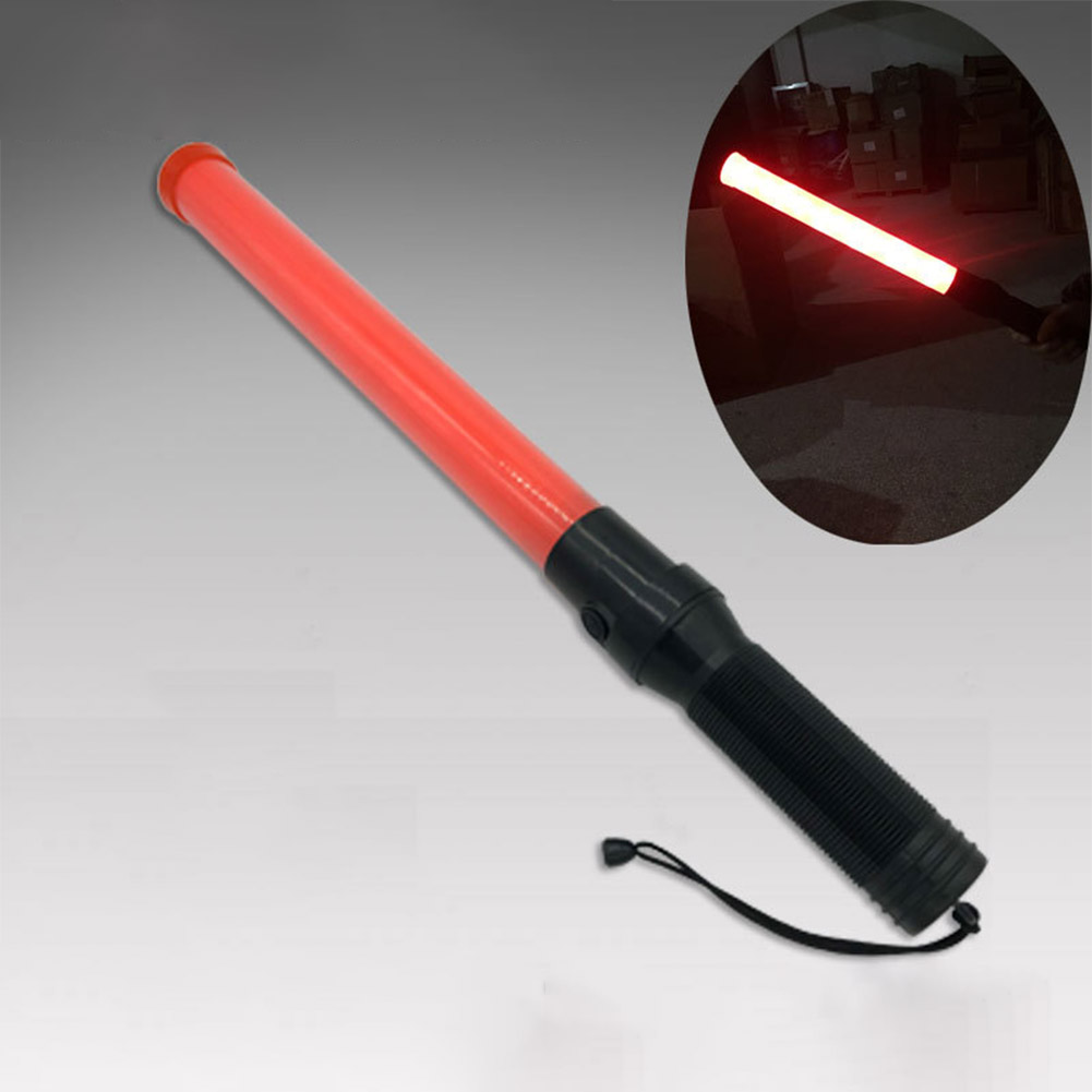 40cm LED Traffic Baton Safety Signal Warning Flash+Constant Light red light