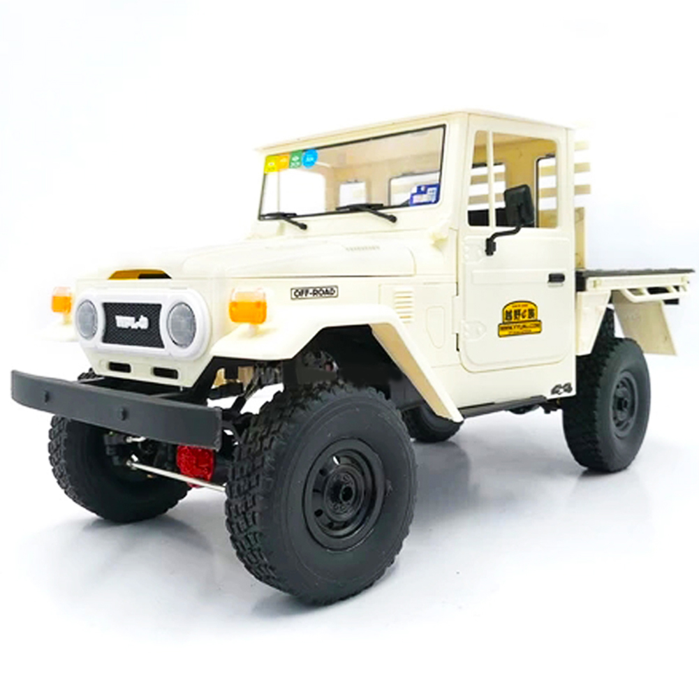 WPL C44KM 1/16 Metal Edition Kit 4Wd Climbing Off-Road Truck Diy Accessories Modified Upgrade Without ESC Battery Transmitter Receiver white