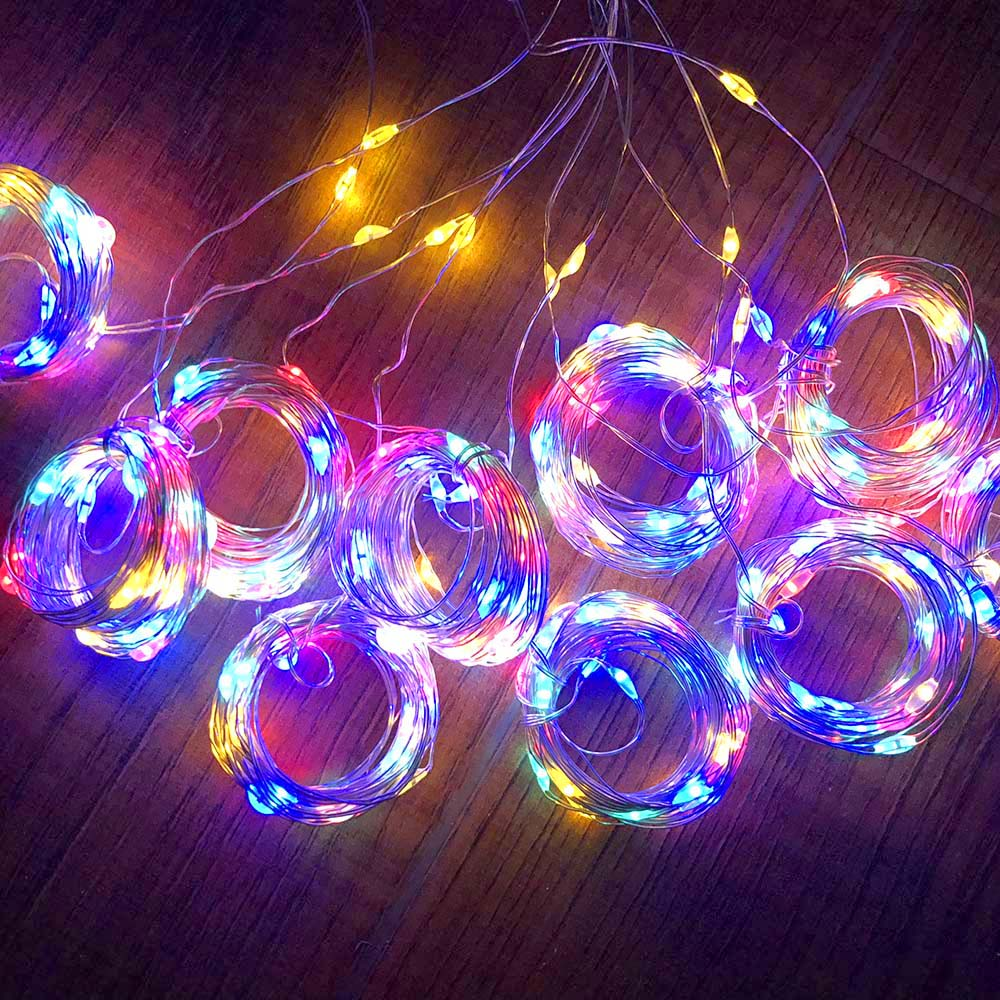 Twinkle Star 300 LED Window Curtain String Light Wedding Party Home Wall Decorations, Warm White color