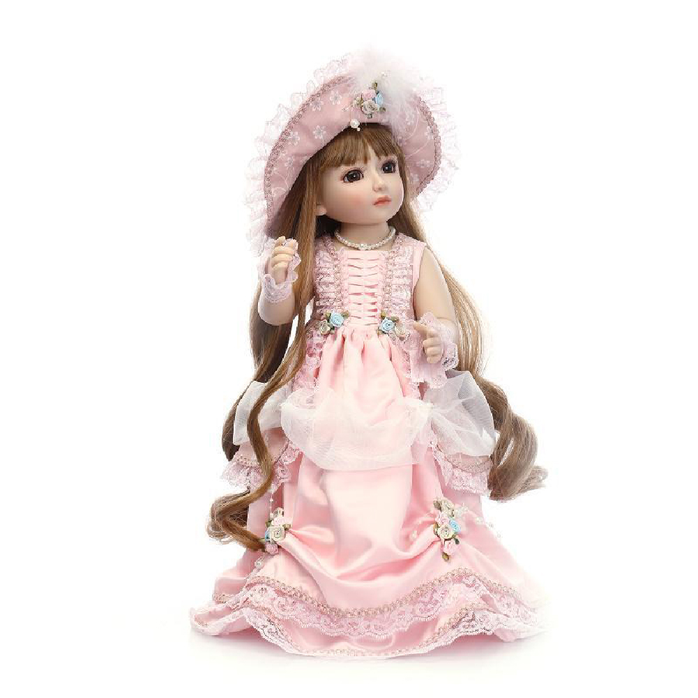 45 cm Dolls Ball Jointed Doll DIY Toys with Clothes Outfit Makeup Best Gift for Girls Brown eyes