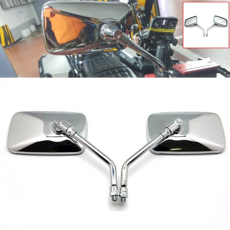 Motorcycle Rearview Mirror Universal Rectangular Aluminum Alloy Rearview Mirror For Honda Retrovisor De Moto Mirror Moto Plating