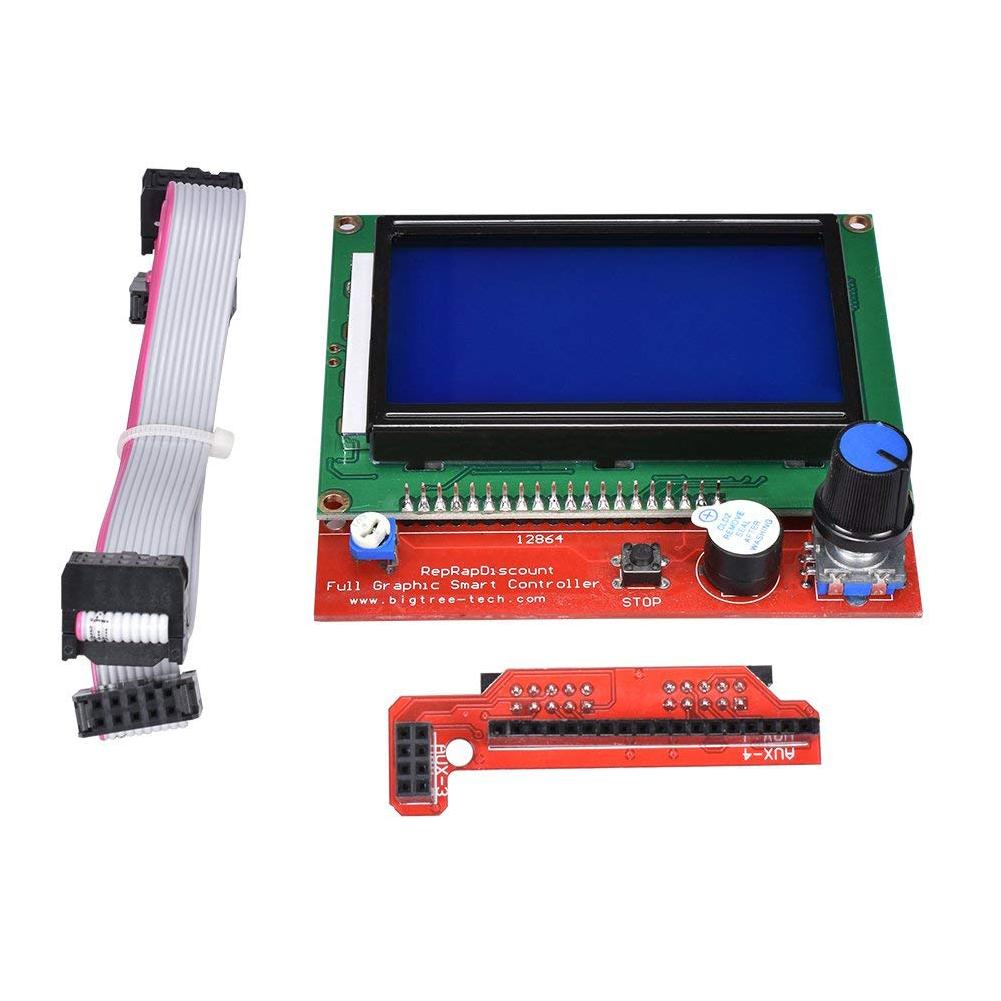 12864 LCD Display Smart Controller with Adapter for RAMPS 1.4 RepRap Guru 3D Printer TE645