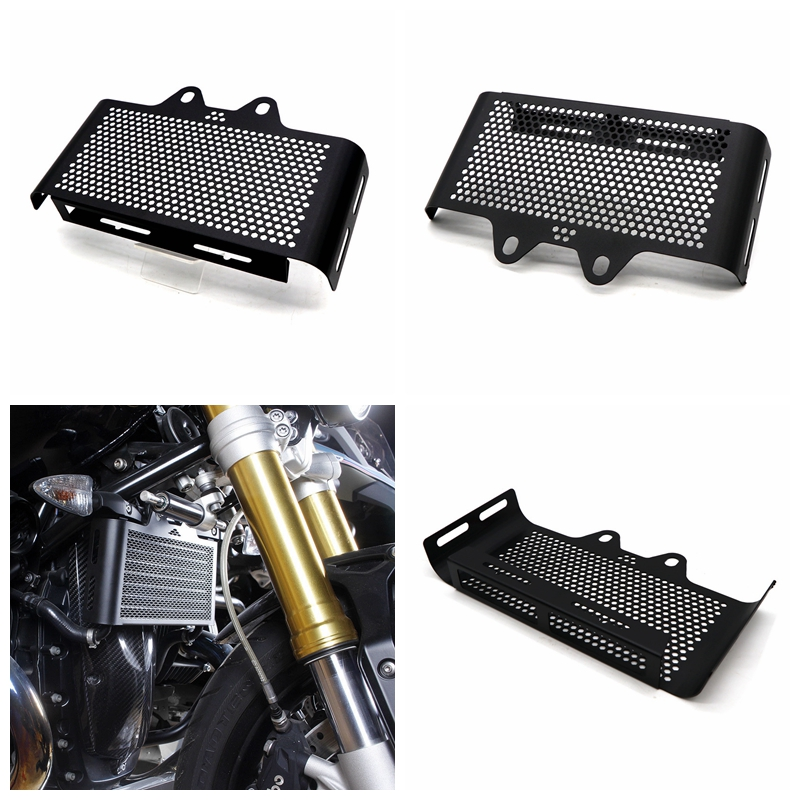For BMW R Nine T Radiator Guard Grille R9T Pure Oil Cooler Protection Cover Motorcycle Accessories black