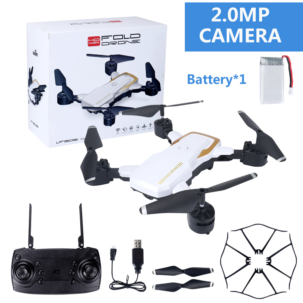 LF609 Wifi FPV RC Drone Quadcopter with 0.3MP/2.0MP Camera  White 200W