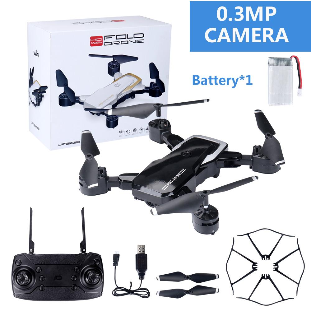 LF609 Wifi FPV RC Drone Quadcopter with 0.3MP/2.0MP Camera  Black 30W
