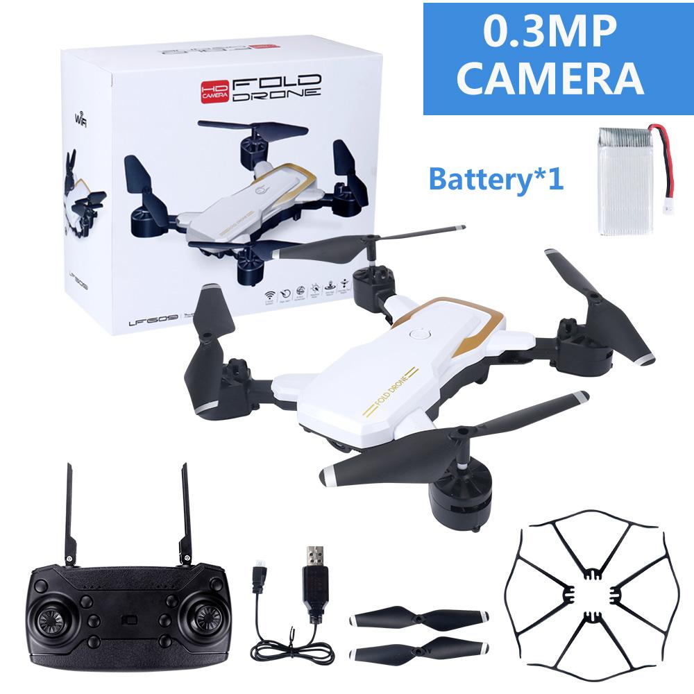LF609 Wifi FPV RC Drone Quadcopter with 0.3MP/2.0MP Camera  White 30W