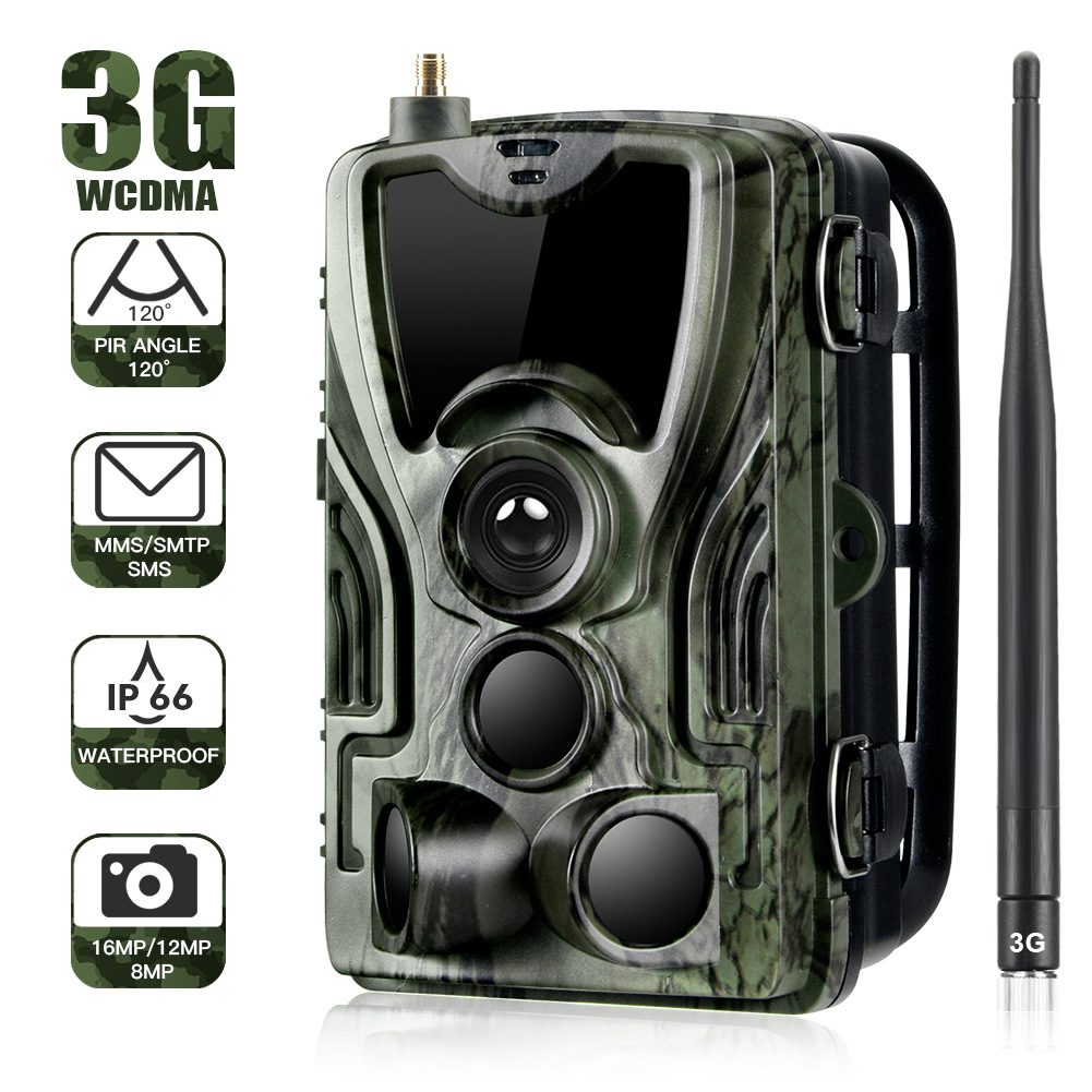 3G Outdoor Camera HC-801G 16MP Trail Camera SMS/MMS/SMTP Photo Traps LEDs Wild Cameras Camouflage