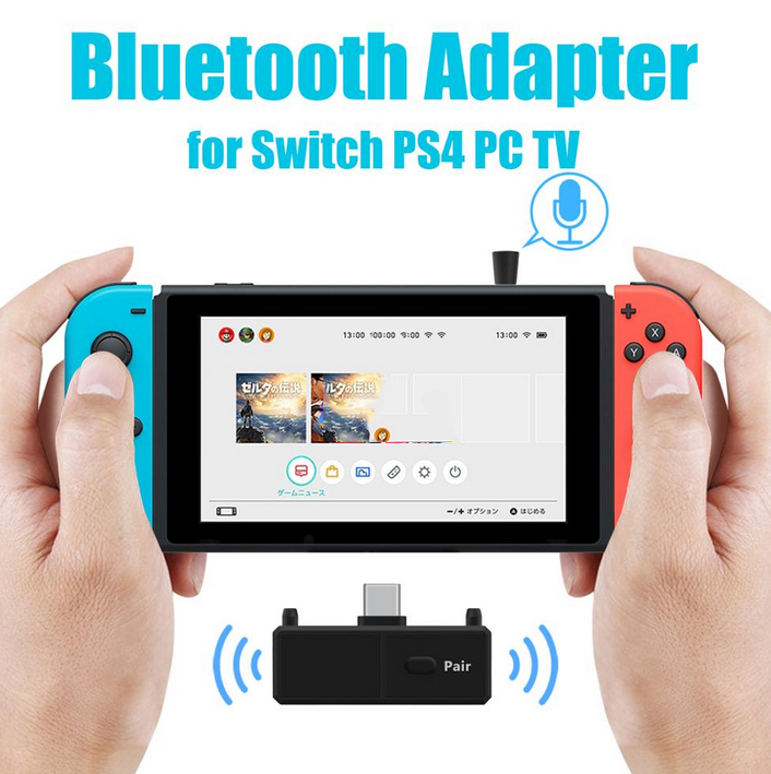 Audio Transmitter Wireless Adapter Bluetooth 5.0 EDR A2DP Low Latency for Nintendo Switch PS4 TV PC Games Bluetooth5.0