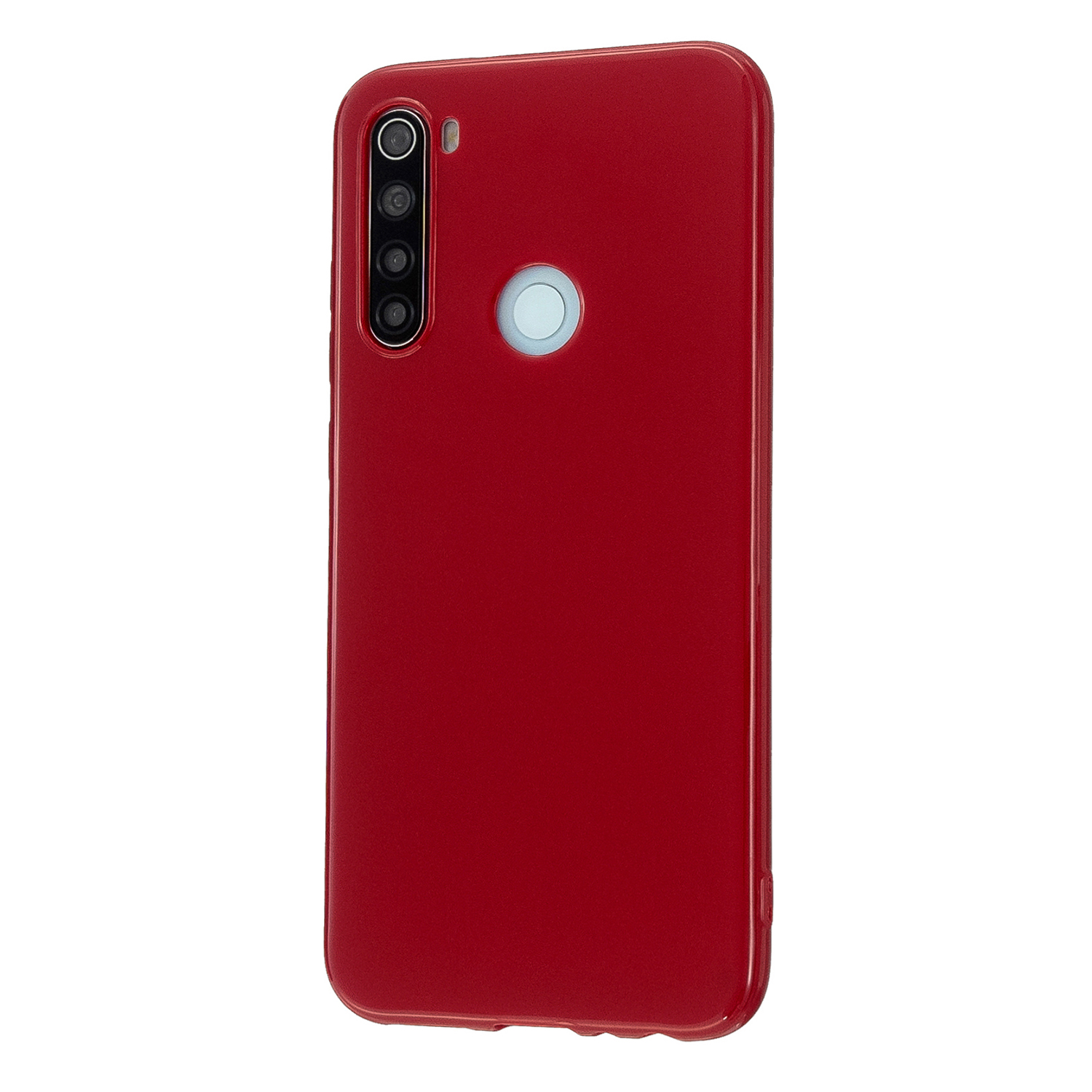 For Redmi Note 8/8 Pro Cellphone Cover Reinforced Soft TPU Phone Case Anti-scratch Full Body Protection Rose red